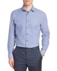 Nordstrom Men's Shop Tech Smart Trim Fit Stretch Texture Dress Shirt