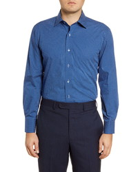 Lorenzo Uomo Trim Fit Dot Print Dress Shirt