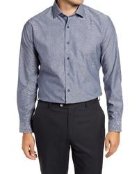 Nordstrom Trim Fit Non Iron Dobby Dress Shirt