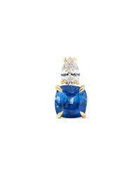 Anita Ko 18 Karat Gold Sapphire And Diamond Earring
