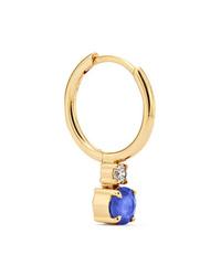 Jemma Wynne 18 Karat Gold Sapphire And Diamond Hoop Earring
