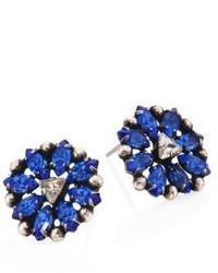 Dannijo Axis Crystal Stud Earrings