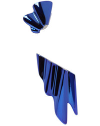 Saint Laurent Blue Babylone Clip On Earrings