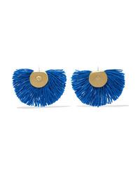 Katerina Makriyianni Fan Fringed Gold Tone Earrings
