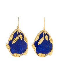 Aurelie Bidermann Franoise Gold Plated Lapis Lazuli Earrings