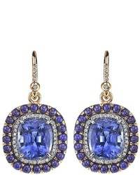 Irene Neuwirth Sapphire Lapis Earrings