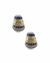 Lagos Muse Sapphire J Hoop Earrings
