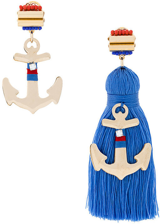 Rada' Rad Embellished Anchor Earring