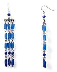 Ralph Lauren Lauren Blue Mountain 3 Row Drop Earrings