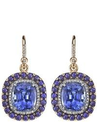 Irene Neuwirth Sapphire Lapis Earrings