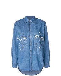 Forte Dei Marmi Couture Dyna Embellished Denim Shirt