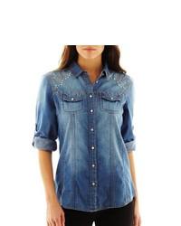 i jeans by Buffalo Embellished Denim Shirt