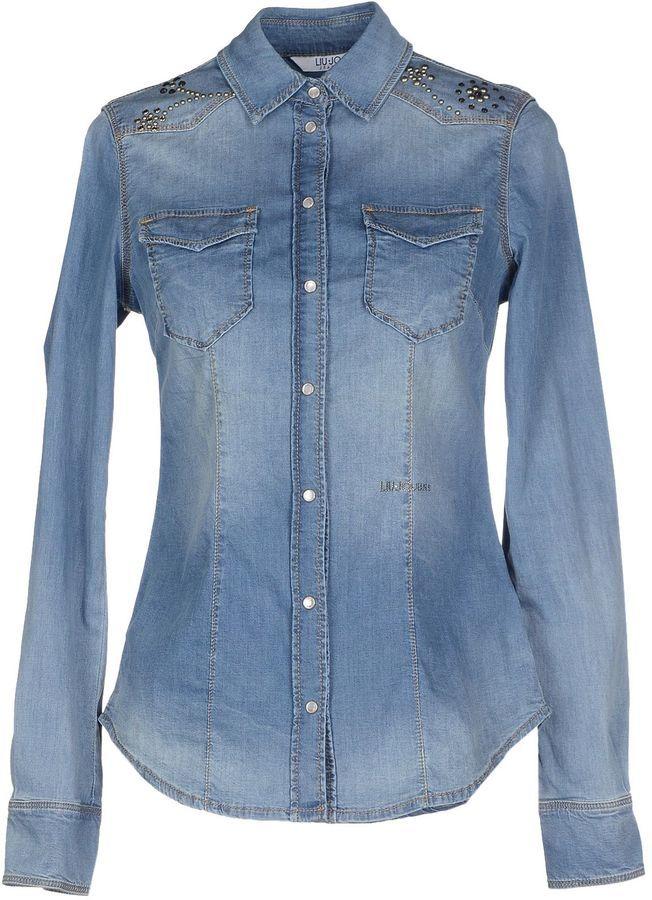 b026d064ee Liu Jo Jeans Denim Shirts, $123 | yoox.com | Lookastic.com