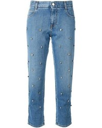 Blue Embellished Jeans