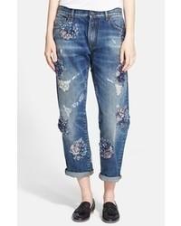 MSGM Embellished Boyfriend Jeans