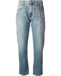 MSGM Embellished Short Jeans