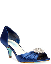 Betsey Johnson Blue By Stun Low Heel Evening Pumps