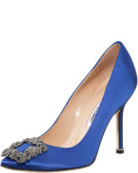 Hangisi satin pump cobalt blue medium 289516