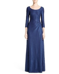 St. John Collection Ashanti Sequin Embellished Knit Gown