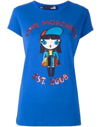 Love Moschino Sequin Embellished T Shirt
