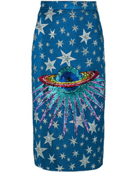 Gucci Embellished Planet Midi Skirt