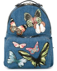 Valentino Embroidered Butterfly Backpack