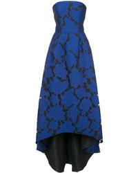 Oscar de la Renta Embroidered Brocade High Low Gown