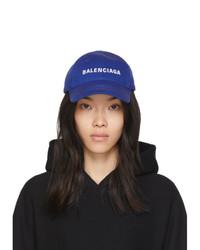 Balenciaga Blue Logo Visor Cap