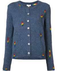 Marc Jacobs Embroidered Round Neck Cardigan