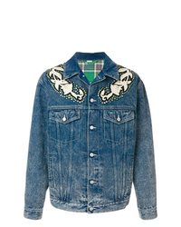 Gucci Denim Jacket With Appliqus