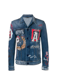Dolce & Gabbana Printed Denim Jacket
