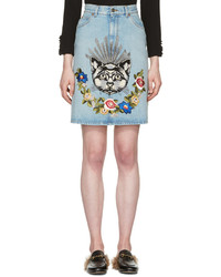 Blue denim cat skirt medium 4380703