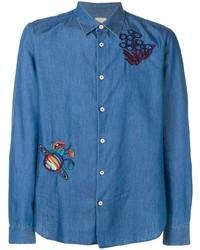 Paul Smith Embroidered Denim Shirt
