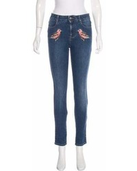 Stella McCartney 2016 Mid Rise Embroidered Jeans W Tags