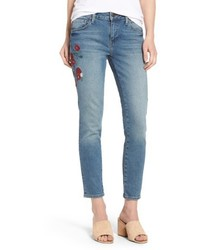 Adriana embroidered ankle skinny jeans medium 6368273