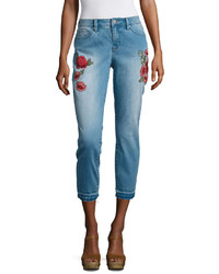 Ana Skinny Crop Embroidered Pant  Talls