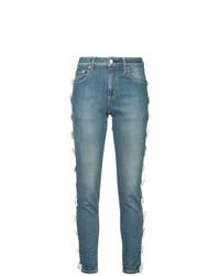 Tu Es Mon Trésor Bow Trim Jeans Short Length