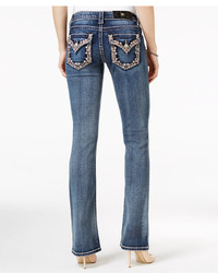 Miss Me Dark Wash Embroidered Bootcut Jeans