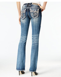 Rock Revival Embroidered Bootcut Jeans Medium Blue Wash