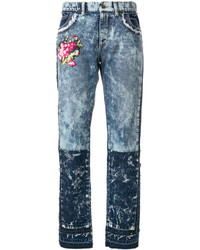 Dolce & Gabbana Embroidered Distressed Jeans