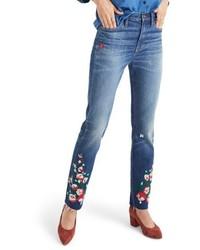 Embroidered high waist boyfriend jeans medium 6368263