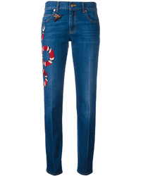 Gucci Embroidered Kingsnake Jeans