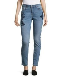 Vero Moda Embroidered Skinny Jeans