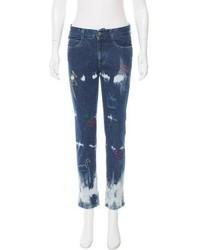 Stella McCartney Embroidered Straight Leg Jeans