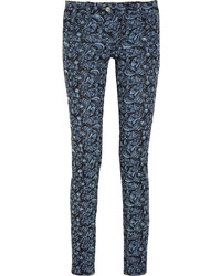 Etoile Isabel Marant Toile Isabel Marant Floral Embroidered Mid Rise Skinny Jeans