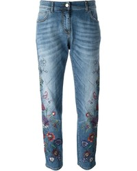 Etro Flower Embroidered Jeans