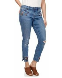 Lucky Brand Floral Embroidered Jeans