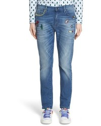 Mira Mikati Icons Embroidered Skinny Jeans