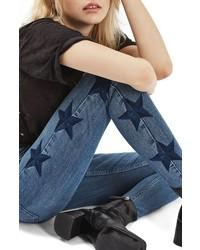 Jamie star embroidered skinny jeans medium 6368262