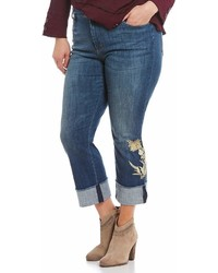 NYDJ Plus Marilyn Ankle Embroidered Jeans